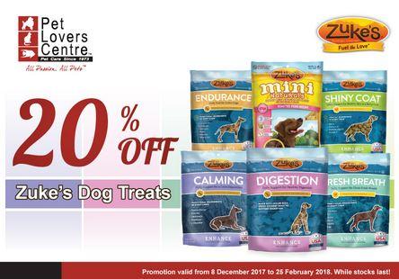 Zuke's Dog Treats Promotion at Pet Lovers Centre