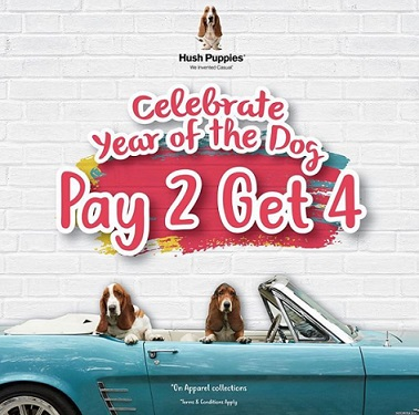 Promo Pay 2 Get 4 from Hush Puppies
