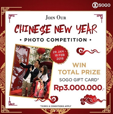 Chinese New Year Photo Competition at SOGO Dept Store