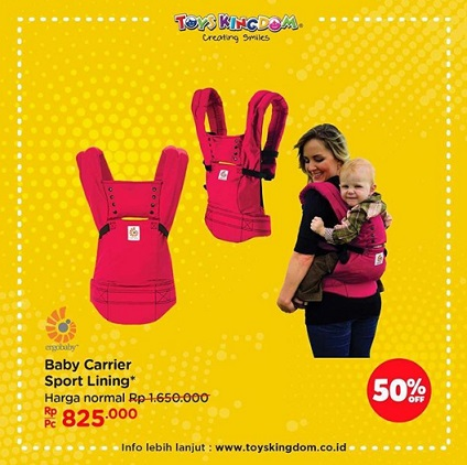 Discount 50% Baby Carrier Sport Lining at Toys Kingdom