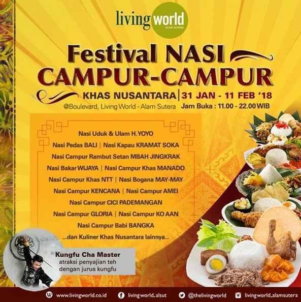 Festival Nasi Campur Campur At Living World Alam Sutera