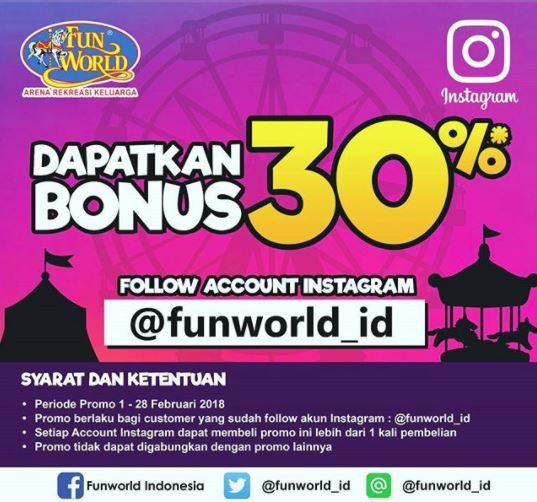 Bonus Balance 30% from FunWorld