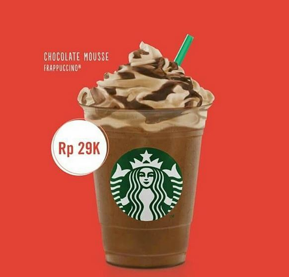 Promotion Chocolate Mousse at Starbucks