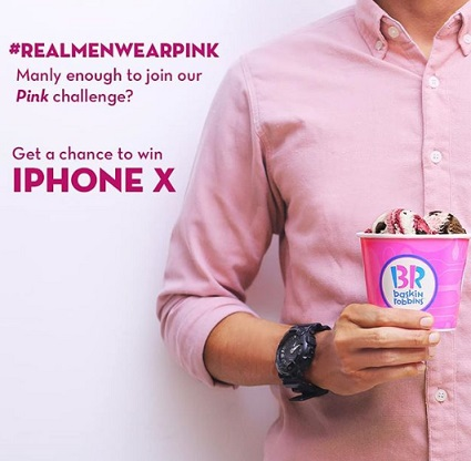 Get iPhone X from Baskin Robbins