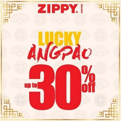 Lucky Angpao Up to 30% from Zippy