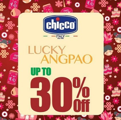 Lucky Angpao Up to 30% from Chicco