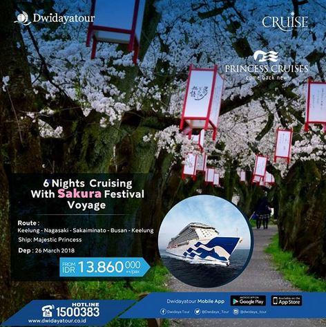 6 Nights Cruising With Sakura Festival Voyage at Dwidaya Tour