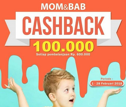 Cashback Rp 100,000 from Mom & Bab