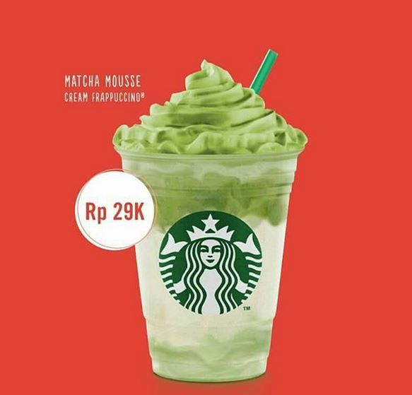 Promotion Matcha Mousse at Starbucks