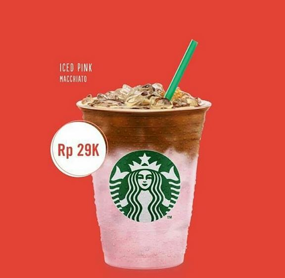 Special Price Iced Pink Macchiato at Starbucks