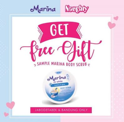 Promo Free Gift Marina Body Scrub From Naughty