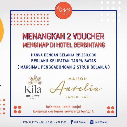 Vouchers Stay at 4th Star Hotel from Park23