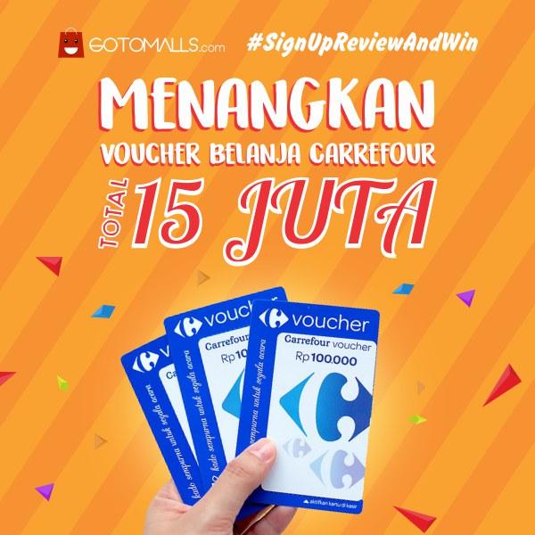 GoToMalls Bagi-Bagi Voucher Belanja Carrefour Total 15 Juta Rupiah!