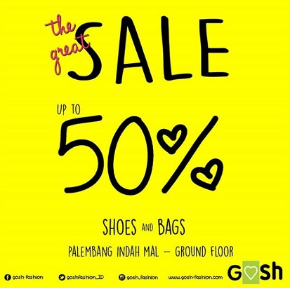 Discount Up to 50% at Gosh Palembang Indah Mall