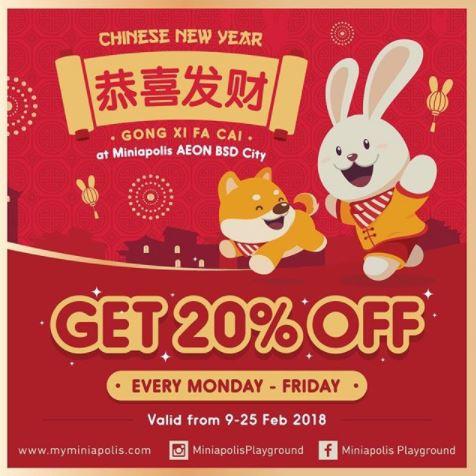 Get 20% Off Miniapolis AEON BSD City