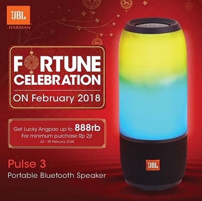 Get Lucky Angpao Up to Rp 888,000 from JBL