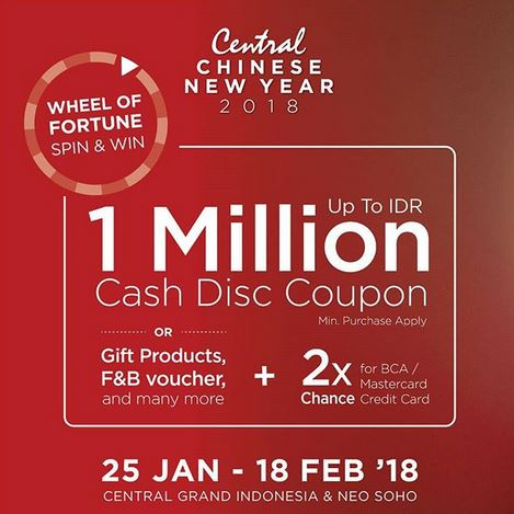 Wheel Of Fortune Spin Win At Central Grand Indonesia