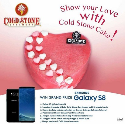 Get Samsung S8 from Cold Stone