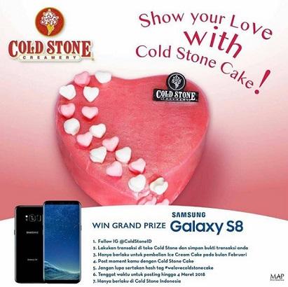 Dapatkan Samsung S8 dari Cold Stone