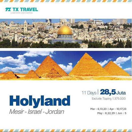 Tour Holyland Package fromTX Travel