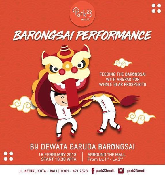 Barongsai Performance at Park23