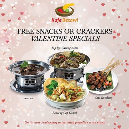 Free  Snack or Crackers from Kafe Betawi</h3>