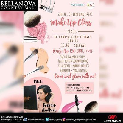 Make Up Class at Bellanova Country Mall