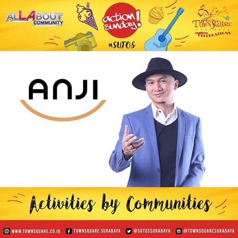 Special Perfomance Anji at Action Sunday Surabaya Town Square