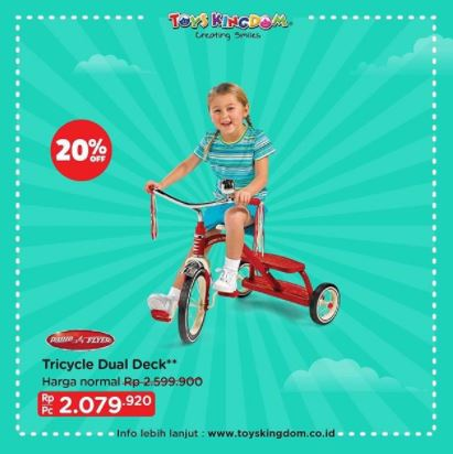 Get 20% Discount Trycle Dual Deck from Toys Kingdom