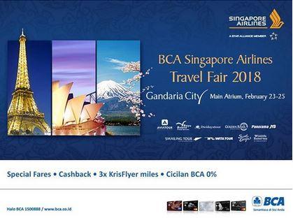 BCA Singapore Airlines Travel Fair 2018 at Gandaria City