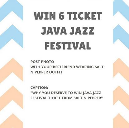 Win Java Jazz Festival at Salt n Papper