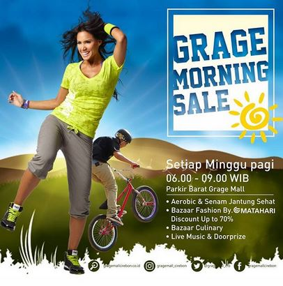 Grage Morning Sale at Grage Mall Cirebon