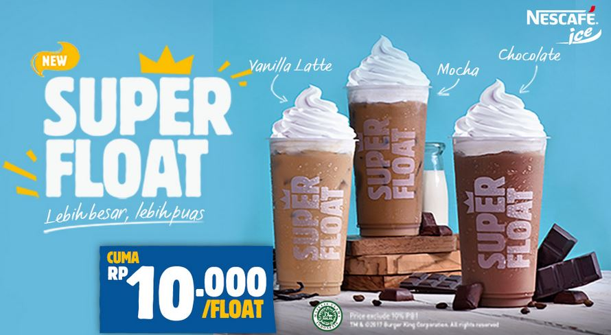 Promo Super Float at Burger King