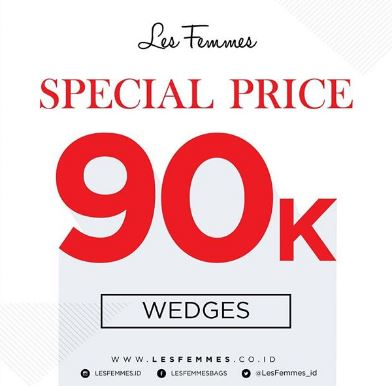 Get Special Price Wedges from Les Femmes