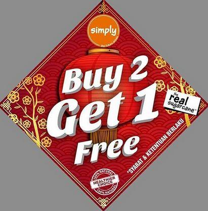Buy 2 Get 1 Free at Simply