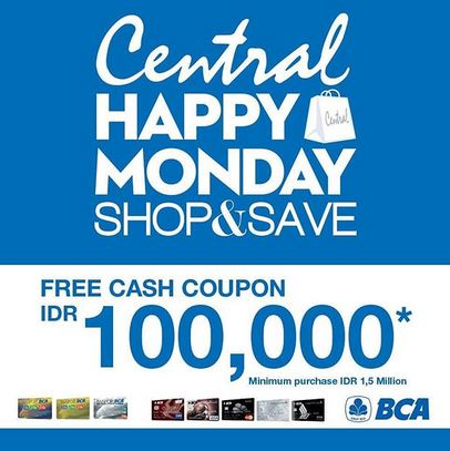 Get Casback Rp.100.000 at Central