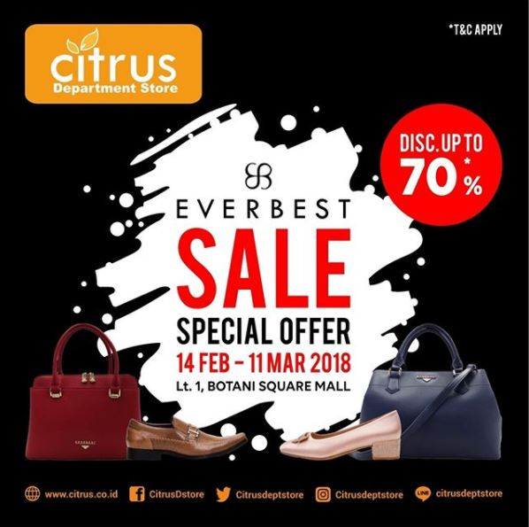 Everbest Sale Up to 70% at Citrus Dept Store