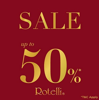 Discount Up to 50% from Rotelli