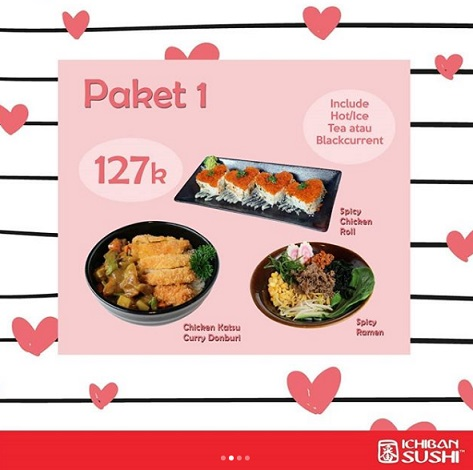 Special Price Package 1 Rp 127,000 at Ichiban Sushi