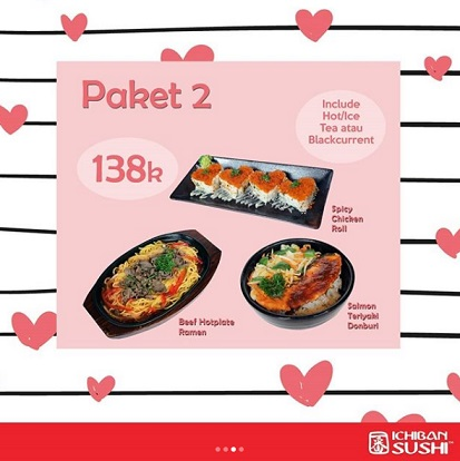 Special Price Package 2 Rp 138,000 at Ichiban Sushi