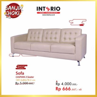 Special Price Sofa Caspian-3Seater from Interio