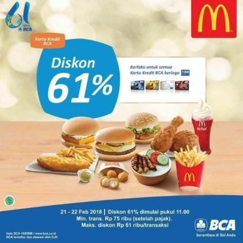 61% Discount Promo from McDonalds