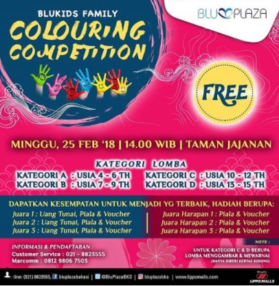 Coloring Competition at Blu PLaza Bekasi