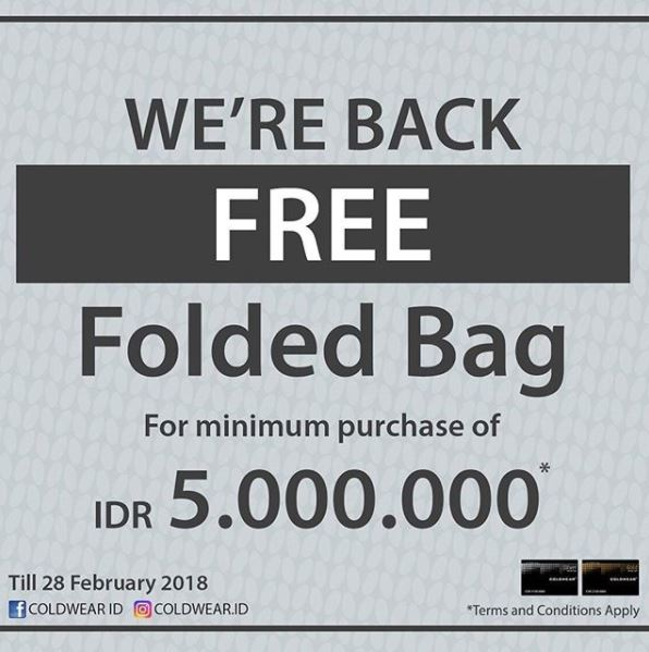 Free Folded Bag from Coldwear