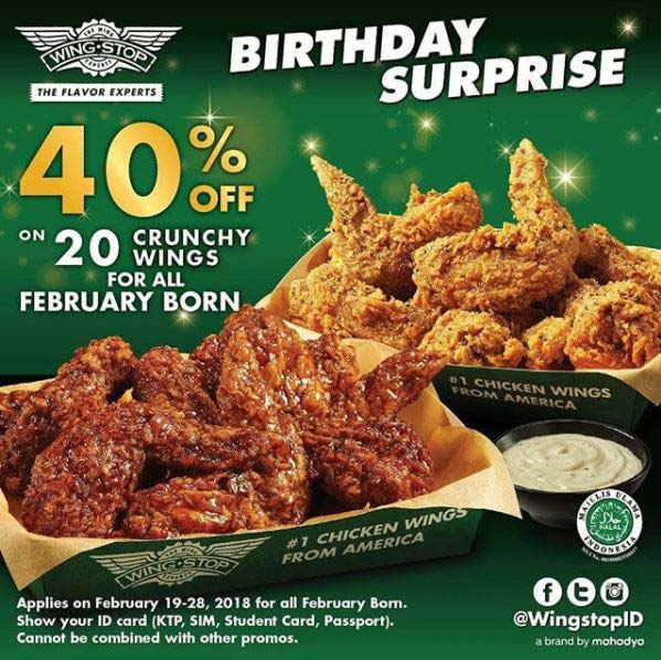Discount 40% from Wing Stop