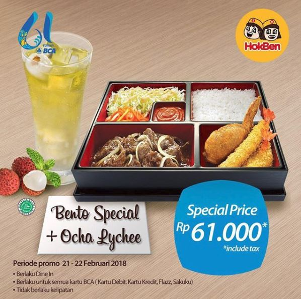 Special Price Rp 61.000 from HokBen