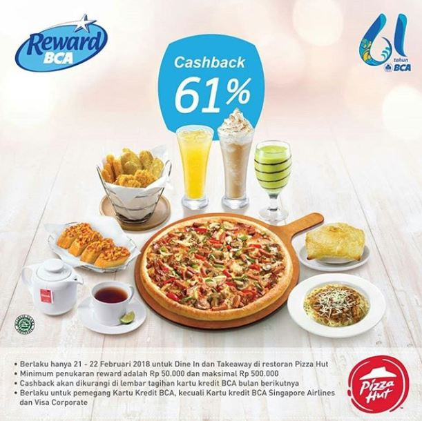 Cashback 61% from Pizza Hut