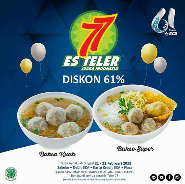 Discount 61% from Es Teler 77