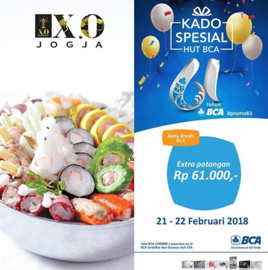 Extra Discount Rp 61.000 from X.O. Suki & Cuisine