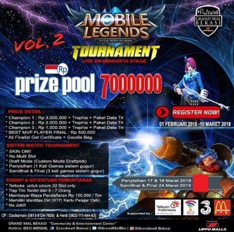 Mobile Legend Tournament at Grand Mal Bekasi